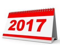 Calendário 2017 Imagem de Stock Royalty Free