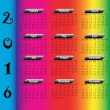calendário 2016 Fotos de Stock Royalty Free