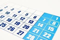 calendário Fotografia de Stock Royalty Free