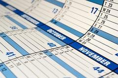 Calendário Foto de Stock Royalty Free