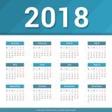 calendário 2018 Fotografia de Stock