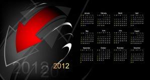Calendário abstrato 2012 ilustração royalty free