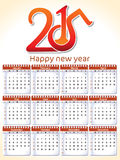 Calendário alaranjado abstrato Imagens de Stock Royalty Free