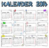 Calendário alemão 2014 Foto de Stock Royalty Free