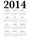 Calendário alemão 2014 Imagens de Stock