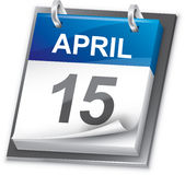 Calendário (ano inteiro incluído) fotografia de stock