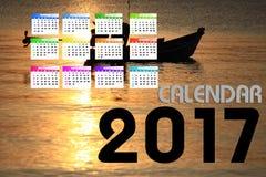 2017 calendário Backgronds Fotografia de Stock