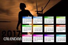 2017 calendário Backgronds Fotografia de Stock Royalty Free
