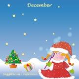 Calendário baixo de dezembro para adicionar os dias Fotos de Stock