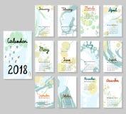 Calendário bonito 2018 ilustração royalty free