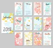 Calendário bonito 2018 Fotografia de Stock Royalty Free
