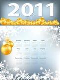 Calendário brilhante do Natal ilustração royalty free