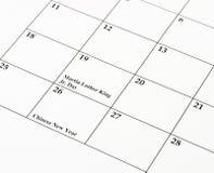 Calendário chinês do ano novo Imagens de Stock Royalty Free