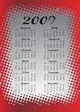 Calendário colorido para 2009 ilustração stock