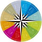 Calendário colorido para 2018 Projeto circular Imagens de Stock