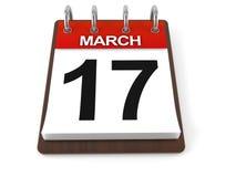 Calendário com data de dia do ` s de St Patrick ilustração do vetor