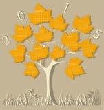 Calendário da árvore para 2015 Imagem de Stock Royalty Free