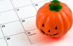 Calendário da abóbora de Halloween Imagem de Stock Royalty Free
