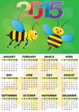 calendário 2015 da abelha Fotografia de Stock