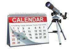 Calendário da astronomia de Celestial Events, conceito rendi??o 3d ilustração stock