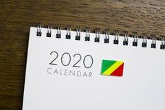 Calendário da bandeira de Congo 2020 foto de stock royalty free