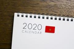 Calendário da bandeira de Marrocos 2020 fotografia de stock