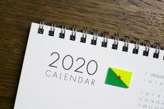 Calendário da bandeira da Guiana Francesa 2020 foto de stock