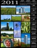 Calendário da colagem da exploração agrícola Fotografia de Stock Royalty Free