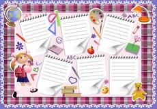 Calendário da escola Imagens de Stock