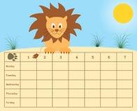 Calendário da escola Imagem de Stock