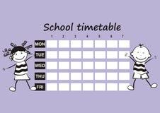 Calendário da escola Imagens de Stock Royalty Free