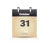 Calendário data página Dia das Bruxas o 31 de outubro ilustração stock