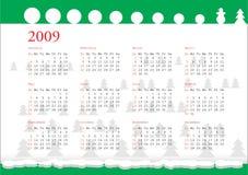 Calendário de 2009 Fotografia de Stock