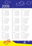 Calendário de 2009 Imagens de Stock