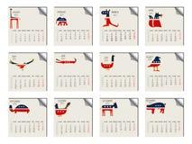 calendário de 2011 animais ilustração do vetor