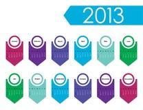 calendário de 2013 anos Imagens de Stock Royalty Free