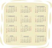 calendário de 2013 vetores Fotografia de Stock Royalty Free