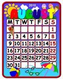 Calendário de agosto 2010 Foto de Stock