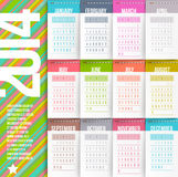 Calendário de 2014 anos ilustração royalty free