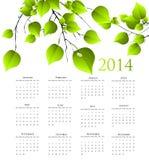calendário de 2014 anos Imagens de Stock