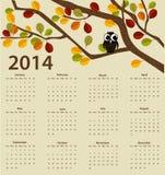 calendário de 2014 anos Fotografia de Stock