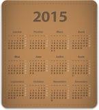 Calendário de 2015 franceses Fotos de Stock