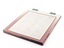 Calendário de mesa com datas e meses de dias em 2017 Foto de Stock Royalty Free