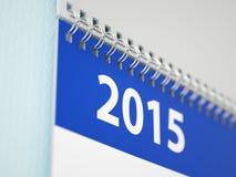 Calendário de parede 2015 Fotos de Stock Royalty Free