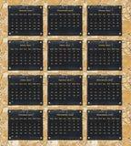 Calendário de 2017 portuguêses Foto de Stock Royalty Free