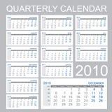 Calendário de um quarto Fotografia de Stock Royalty Free