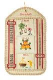 Calendário decorativo Imagens de Stock Royalty Free