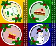 Calendário do advento do Natal [1] Imagem de Stock