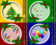 Calendário do advento do Natal [3] ilustração stock