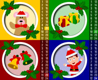 Calendário do advento do Natal [6] Imagem de Stock